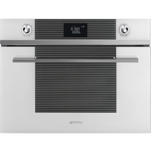 Smeg SF4102MB Linea Built In Microwave & Grill – WHITE