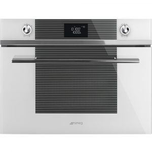 Smeg SF4102MCB Linea Built In Combination Microwave – WHITE