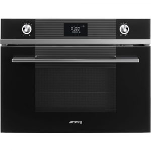 Smeg SF4102MCN Linea Built In Combination Microwave – BLACK