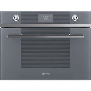Smeg SF4102MS Linea Built In Microwave & Grill – SILVER