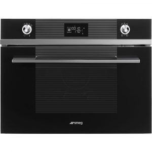 Smeg SF4102VCN 45cm High Compact Linea Steam Combination Oven – BLACK