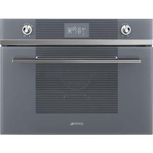 Smeg SF4102VCS 45cm High Compact Linea Steam Combination Oven – SILVER