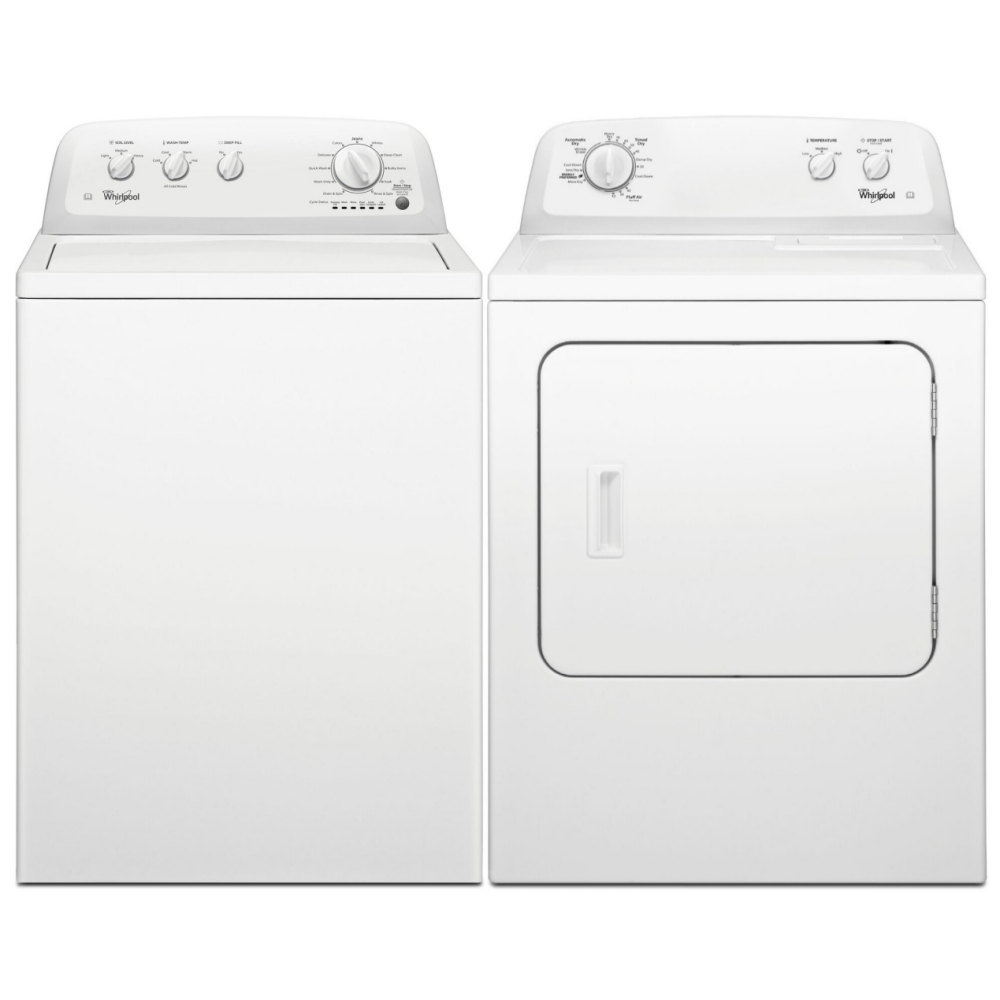 Whirlpool 3LWTW4705FW 3LWED4705FW 15kg American Washing Machine And Dryer Pack - WHITE