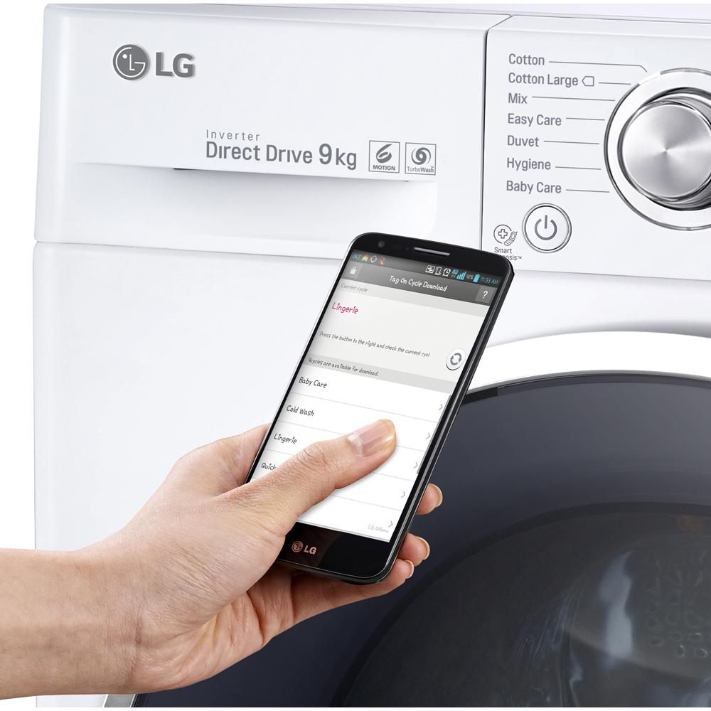 LG FH4U2VCN1 9kg Direct Drive Washing Machine 1400rpm - WHITE