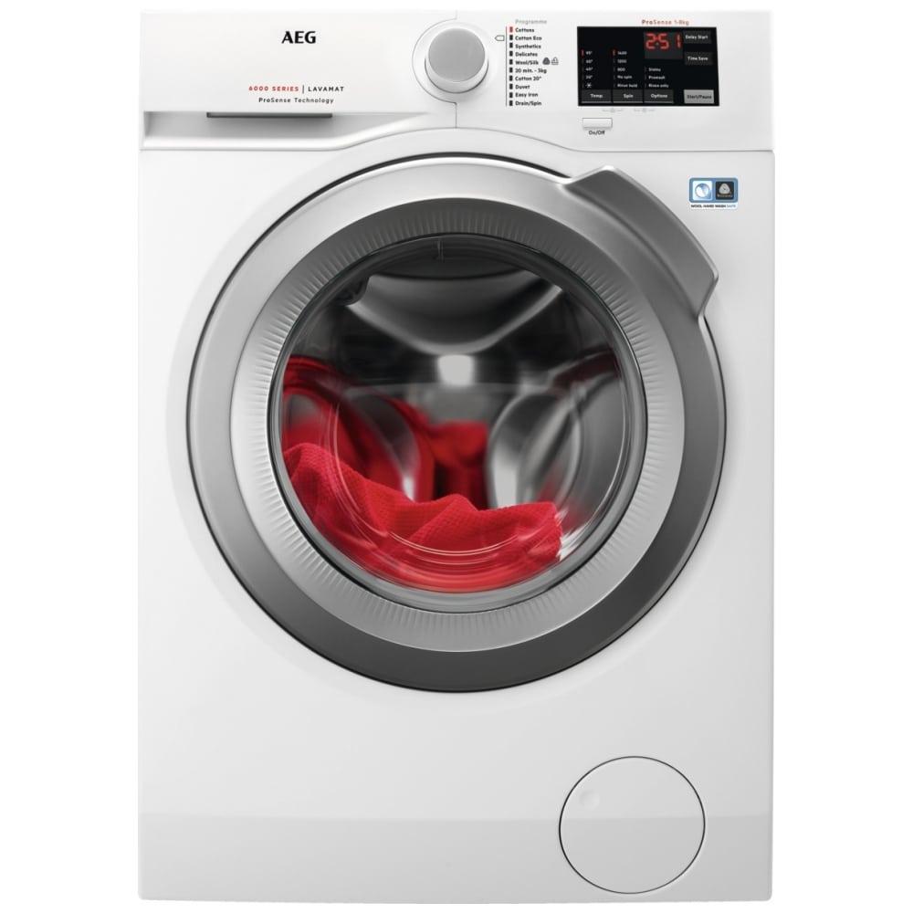 AEG L6FBI842N 8kg Washing Machine 1400rpm - WHITE