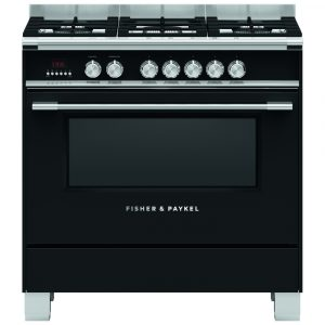 Fisher Paykel OR90SCG4B1 90cm Dual Fuel Range Cooker – BLACK