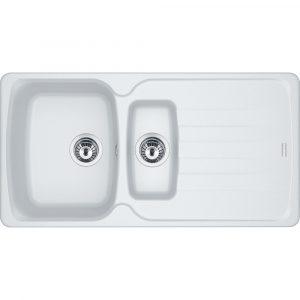 Franke AZG651 PW Antea Fragranite 1.5 Bowl Sink – WHITE