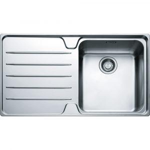 Franke LSX611 LHD Laser Single Bowl Sink Left Hand Drainer – STAINLESS STEEL