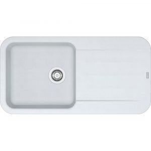 Franke PBG611-970 PW Pebel Fragranite Single Bowl Sink – WHITE