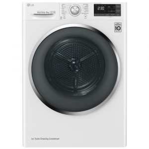 LG RC90U2AV3W 9kg Eco Hybrid Heat Pump Condenser Tumble Dryer – WHITE