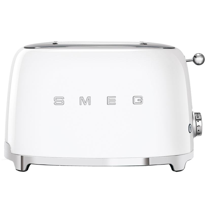 Smeg TSF01WHUK Retro 2 Slice Toaster - WHITE