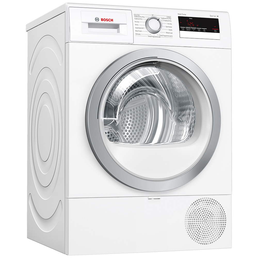 Bosch WTR85V21GB 8kg Serie 4 Heat Pump Condenser Tumble Dryer - WHITE