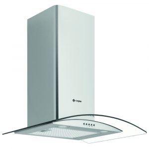 Caple CGC611SS 60cm Curved Glass Chimney Hood – STAINLESS STEEL