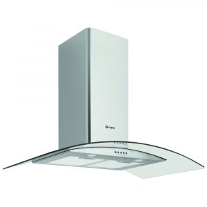 Caple CGC911SS 90cm Curved Glass Chimney Hood – STAINLESS STEEL