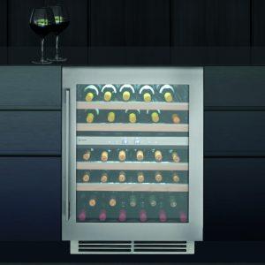 Caple WI6150 60cm Sense Premium Undercounter Dual Zone Wine Cooler – STAINLESS STEEL