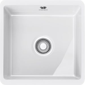 Franke KBK110 40 WH Kubus Single Bowl Ceramic Undermount Sink – WHITE