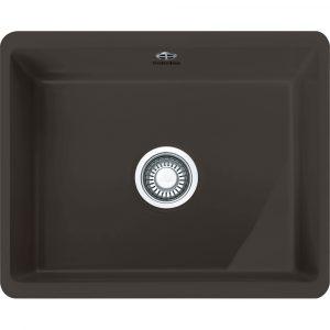 Franke KBK110 50 GR Kubus Single Bowl Ceramic Undermount Sink – GRAPHITE