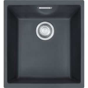 Franke SID110 34 CB Sirius Tectonite Single Bowl Undermount Sink – CARBON BLACK