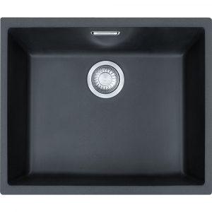 Franke SID110 50 CB Sirius Tectonite Single Bowl Undermount Sink – CARBON BLACK