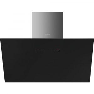 Smeg KICV90BL 90cm Angled Chimney Hood – BLACK