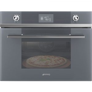 Smeg SFP4102PZS Compact Linea Pyrolytic Multifunction Pizza Oven – SILVER