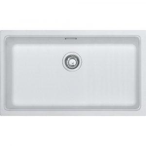 Franke KBG110 70 PW Kubus Single Bowl Undermount Sink – WHITE
