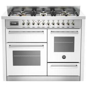 Bertazzoni PRO110-6-MFE-T-BIT 110cm Professional XG Dual Fuel Range Cooker – WHITE