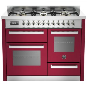 Bertazzoni PRO110-6-MFE-T-VIT 110cm Professional XG Dual Fuel Range Cooker – BURGUNDY