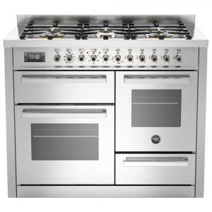 Bertazzoni PRO110-6-MFE-T-XT 110cm Professional XG Dual Fuel Range Cooker – STAINLESS STEEL