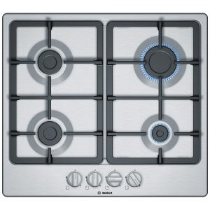Bosch PGP6B5B90 58cm Serie 2 4 Burner Gas Hob – STAINLESS STEEL