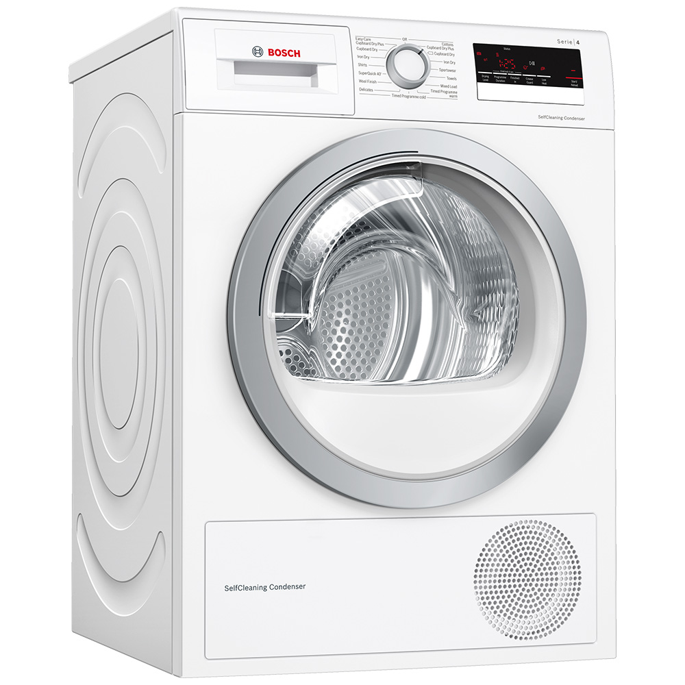 Bosch WTW85231GB 8kg Serie 4 Heat Pump Condenser Tumble Dryer - WHITE