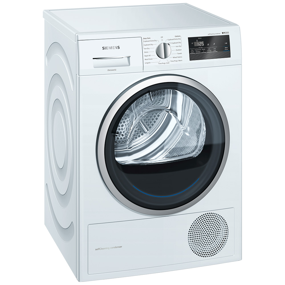 Siemens WT45M232GB 8kg IQ-300 Heat Pump Condenser Tumble Dryer - WHITE