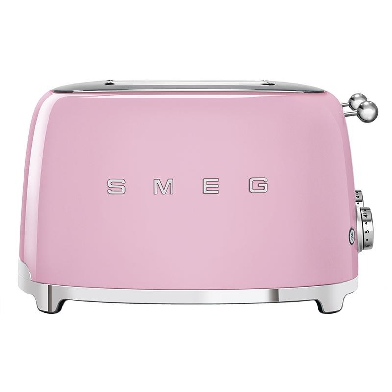 Smeg TSF03PKUK Retro 4 Slice Toaster - PINK