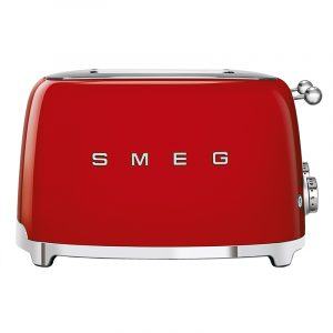 Smeg TSF03RDUK Retro 4 Slice Toaster – RED