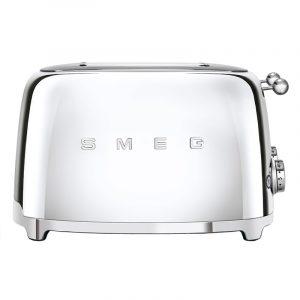 Smeg TSF03SSUK Retro 4 Slice Toaster – STAINLESS STEEL
