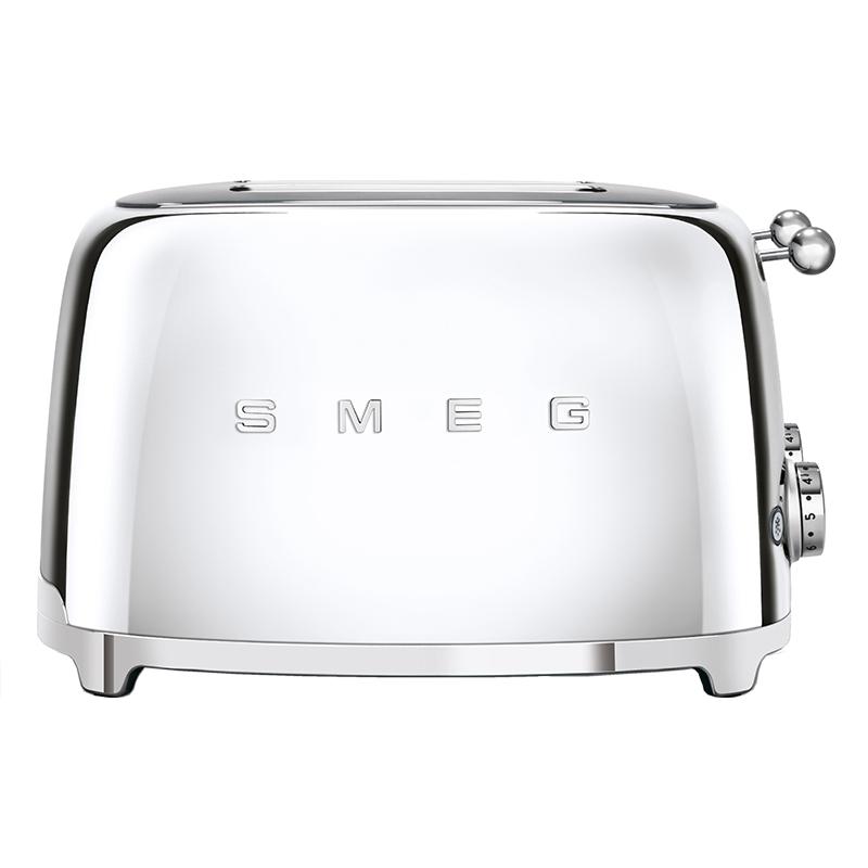 Smeg TSF03SSUK Retro 4 Slice Toaster - STAINLESS STEEL