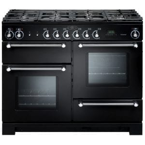 Rangemaster KCH110NGFBL/C Kitchener 110cm Gas Range Cooker – BLACK