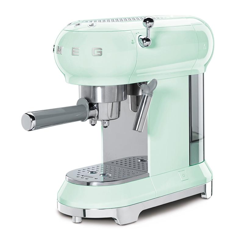 Smeg ECF01PGUK Freestanding Retro Espresso Coffee Machine - PASTEL GREEN