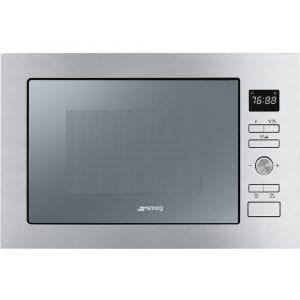 Smeg FMI425S Cucina Built In Microwave & Grill For Tall Housing – SILVER