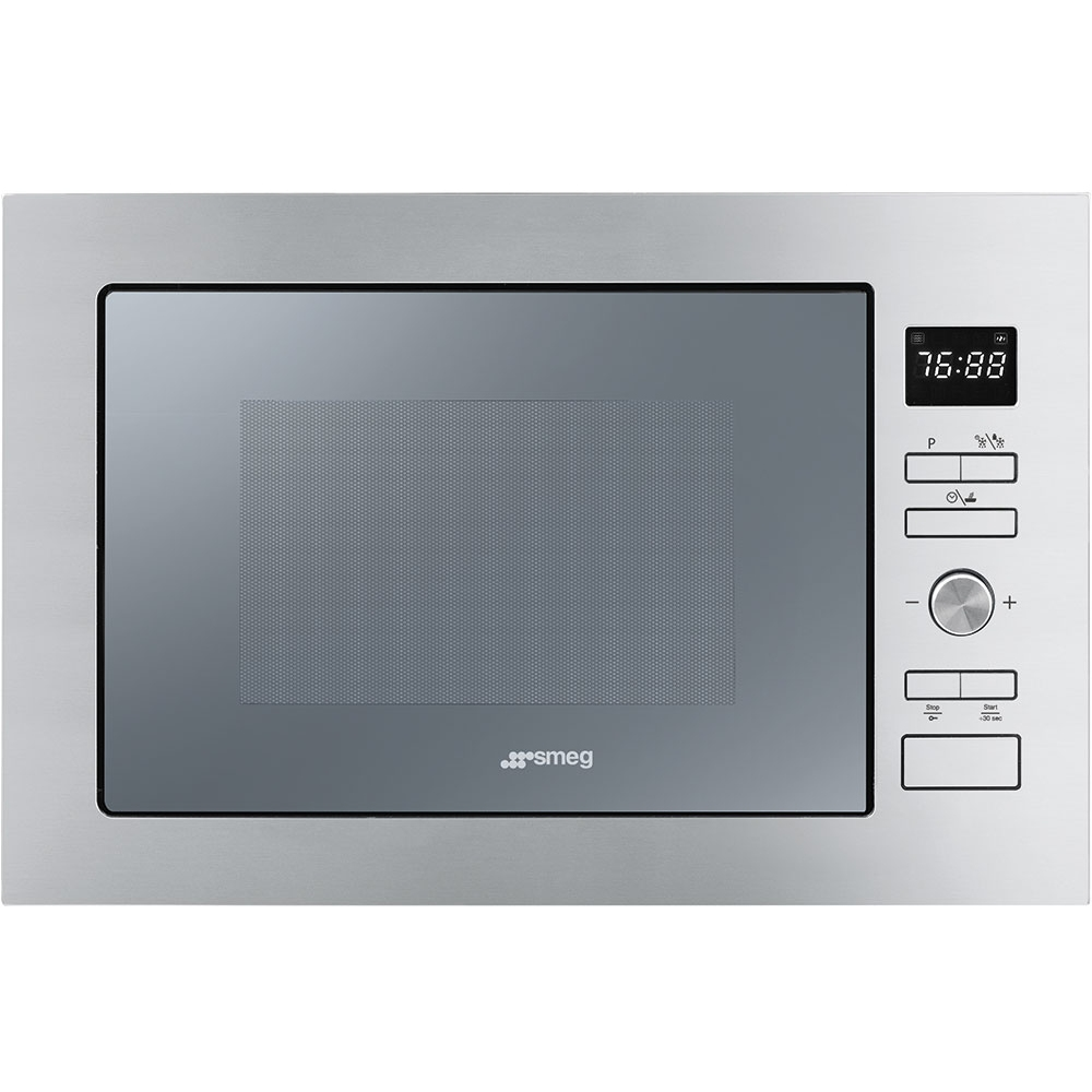 Smeg FMI425S Cucina Built In Microwave & Grill For Tall Housing - SILVER