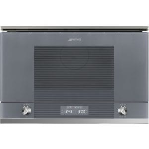 Smeg MP122S1 Linea Built In Microwave And Grill For Wall Unit – SILVER