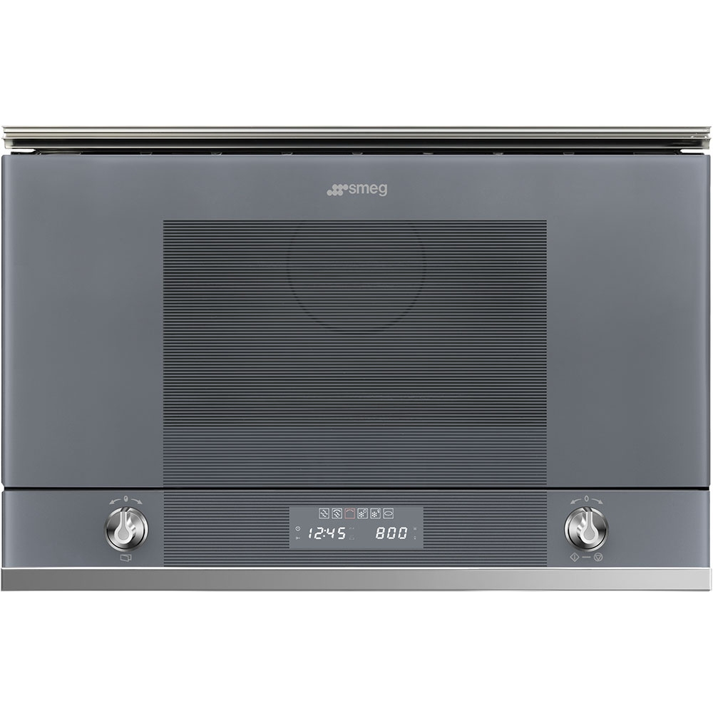 Smeg MP122S1 Linea Built In Microwave And Grill For Wall Unit - SILVER