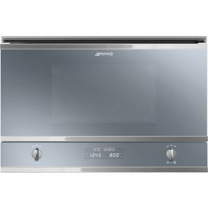 Smeg MP422S Cucina Built In Microwave & Grill For Wall Unit – SILVER
