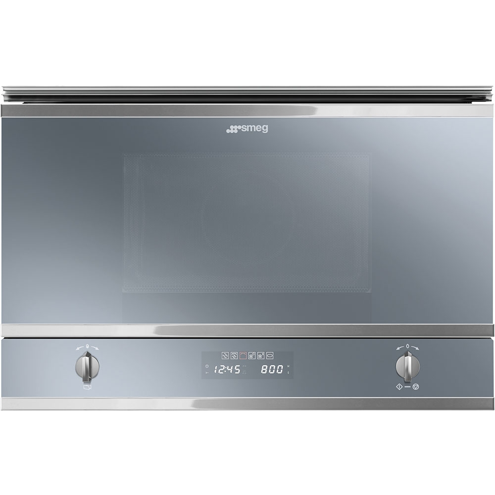 Smeg MP422S Cucina Built In Microwave & Grill For Wall Unit - SILVER