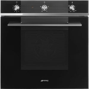 Smeg SF61M3GVN Linea Single Gas Multifunction Oven – BLACK
