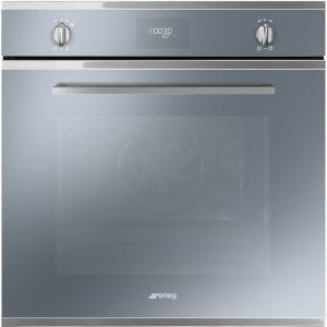 Smeg SFP6401TVS Cucina Pyrolytic Multifunction Single Oven – SILVER