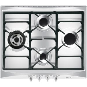 Smeg SR264XGH2 60cm Cucina 4 Burner Gas Hob – STAINLESS STEEL