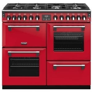 Stoves RICHMOND DX S1000DFCBHJA Richmond 1000mm Dual Fuel Cooker – RED