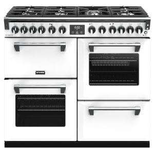 Stoves RICHMOND DX S1000DFCBIBR Richmond 1000mm Dual Fuel Cooker – WHITE