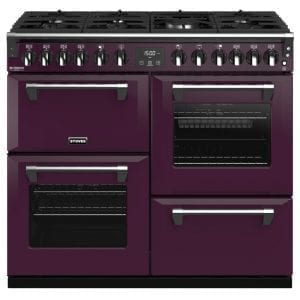 Stoves RICHMOND DX S1000DFCBWBE Richmond 1000mm Dual Fuel Cooker – PURPLE